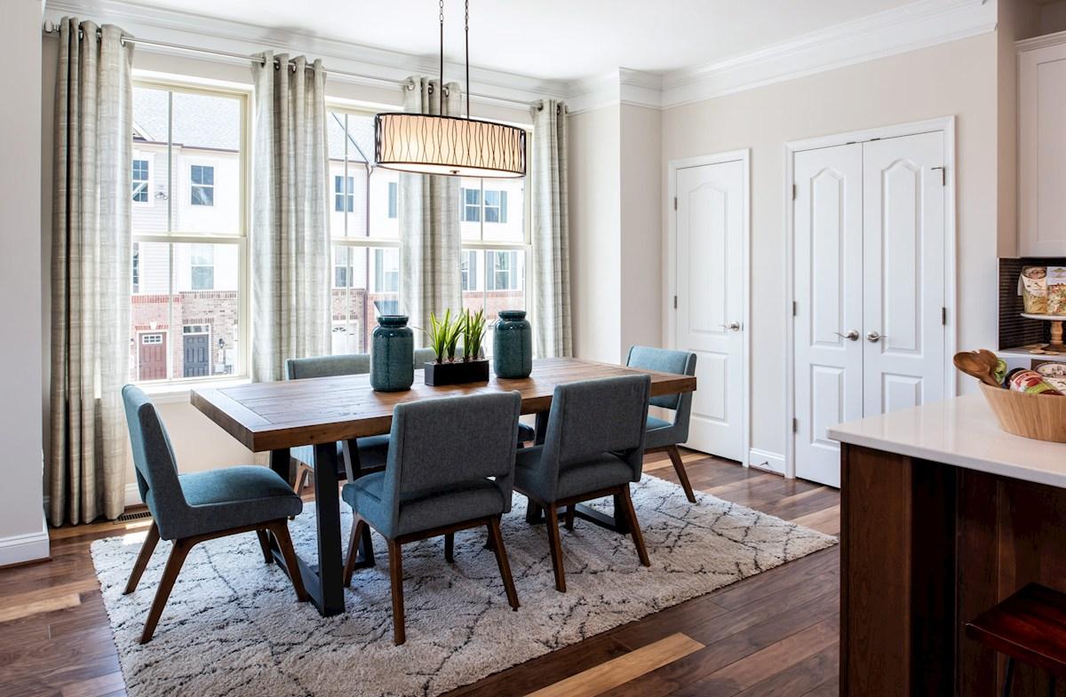 Annapolis dining room featuring hardwood floors
