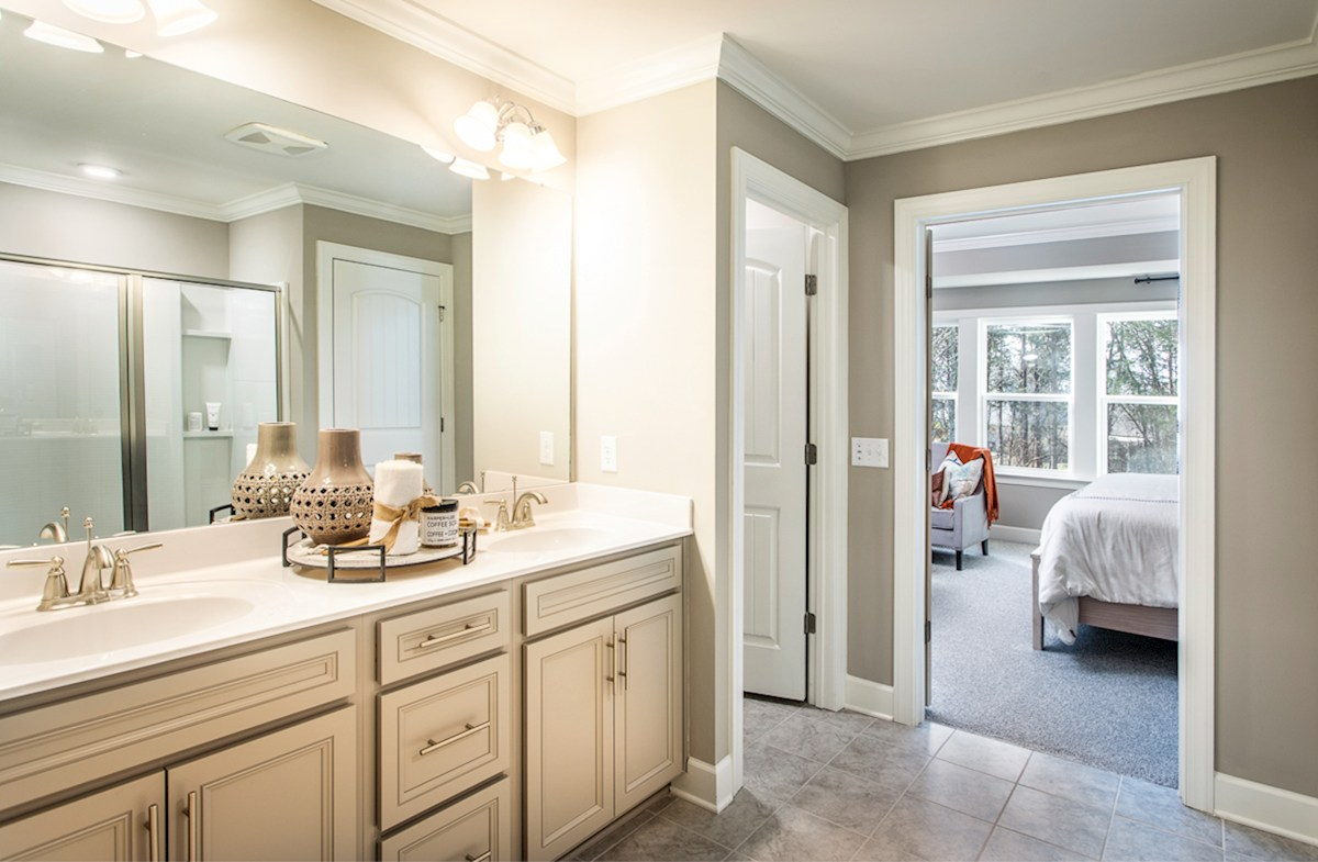 well-appointed master bath