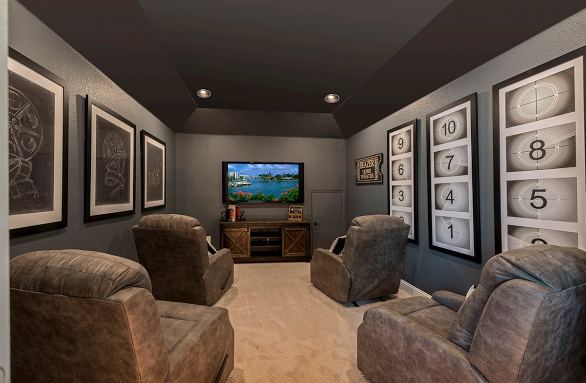 Summerfield spacious media room