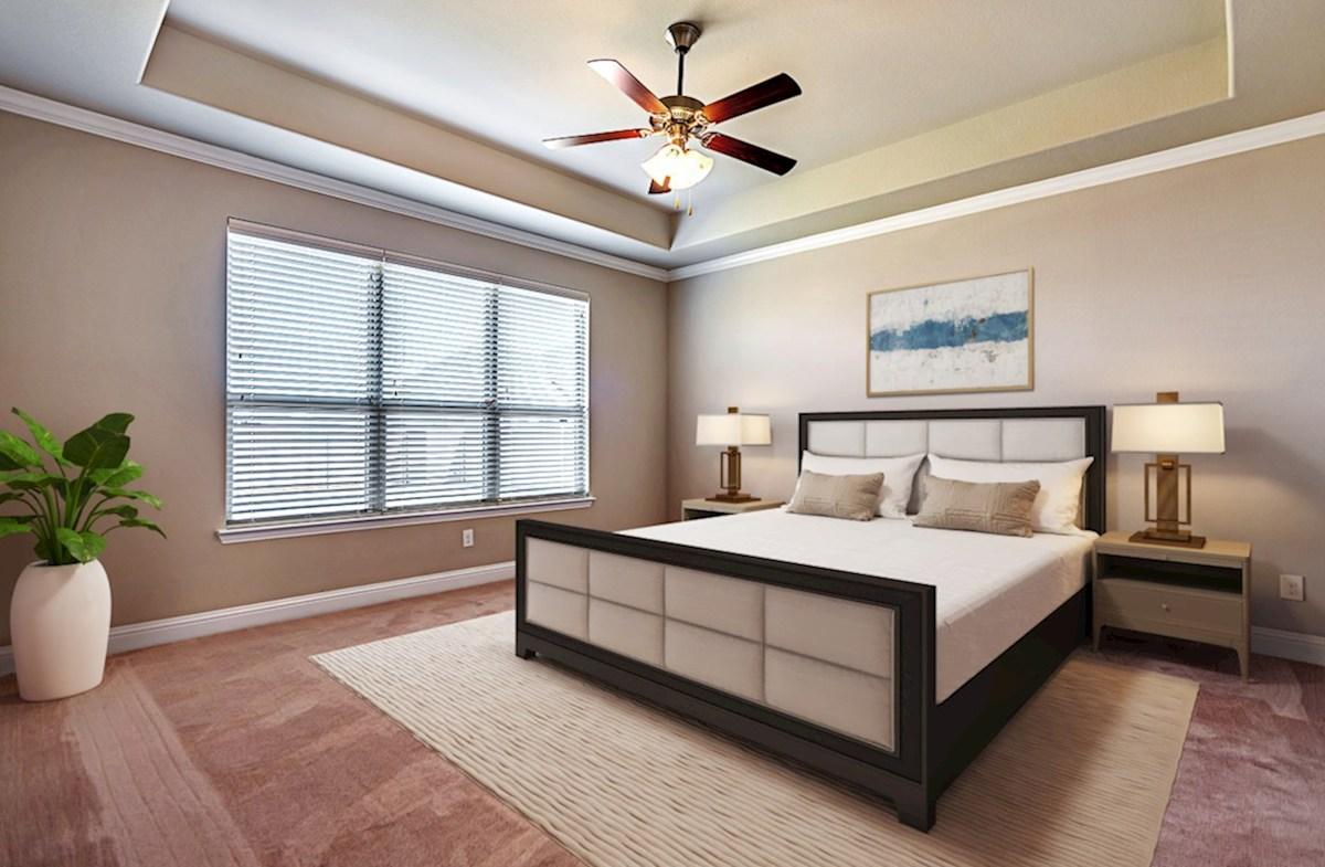 Stoney Creek Belmeade Belmeade master bedroom with tray ceiling