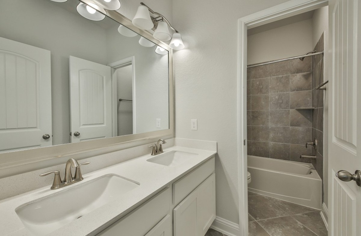Biltmore quick move-in secondary bathroom with double sinks