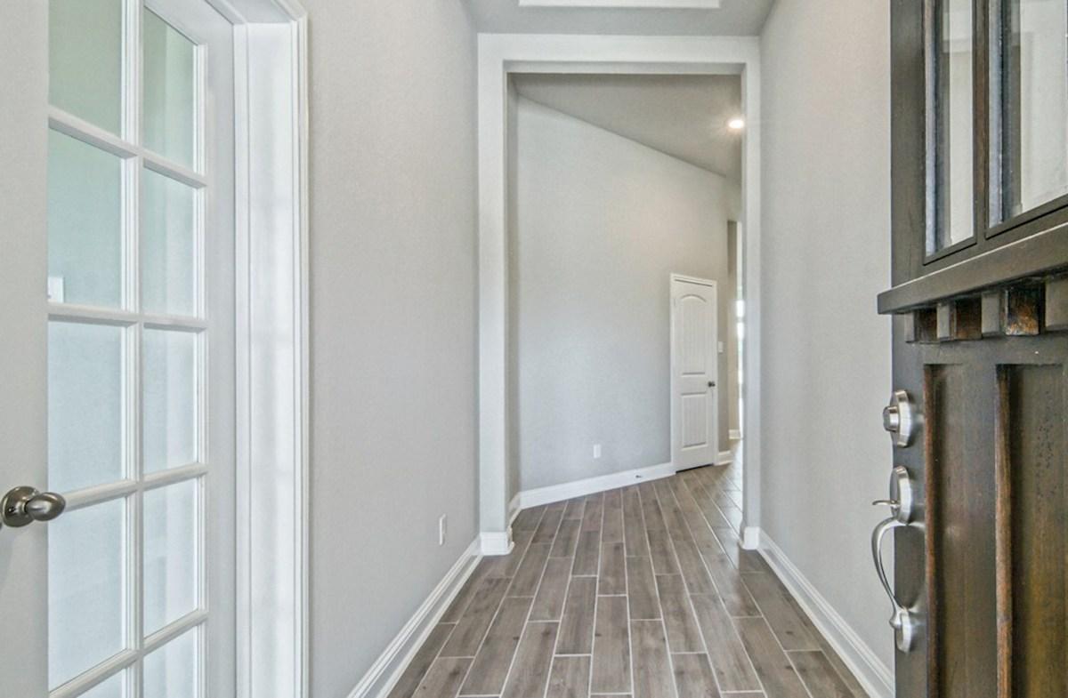 Capri quick move-in elegant foyer with tile flooring
