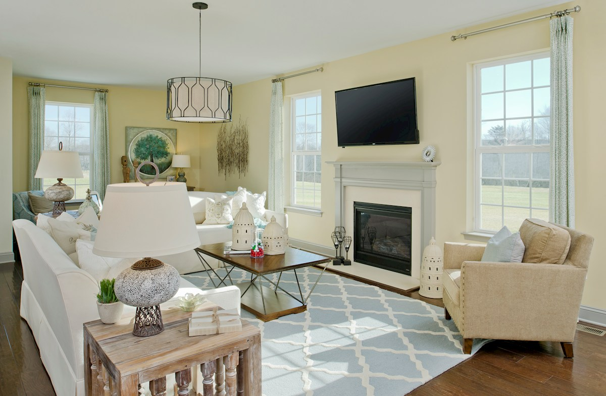 Enclave at River Hill Pembrooke Plenty of natural light in the family room