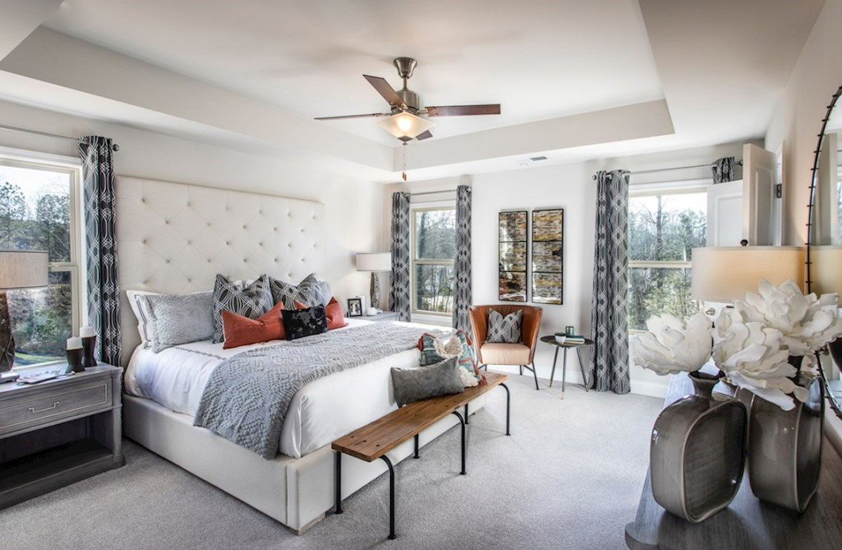 Spring Creek Place Lexington Master Bedroom with tray ceiling