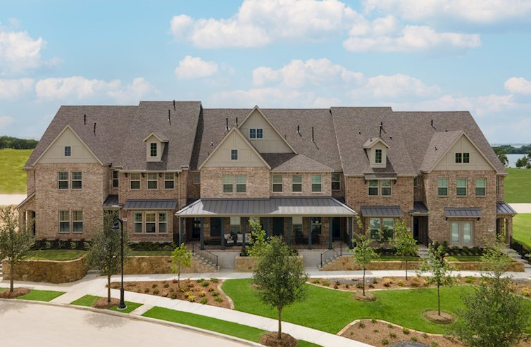 townhome brick and stone exterior