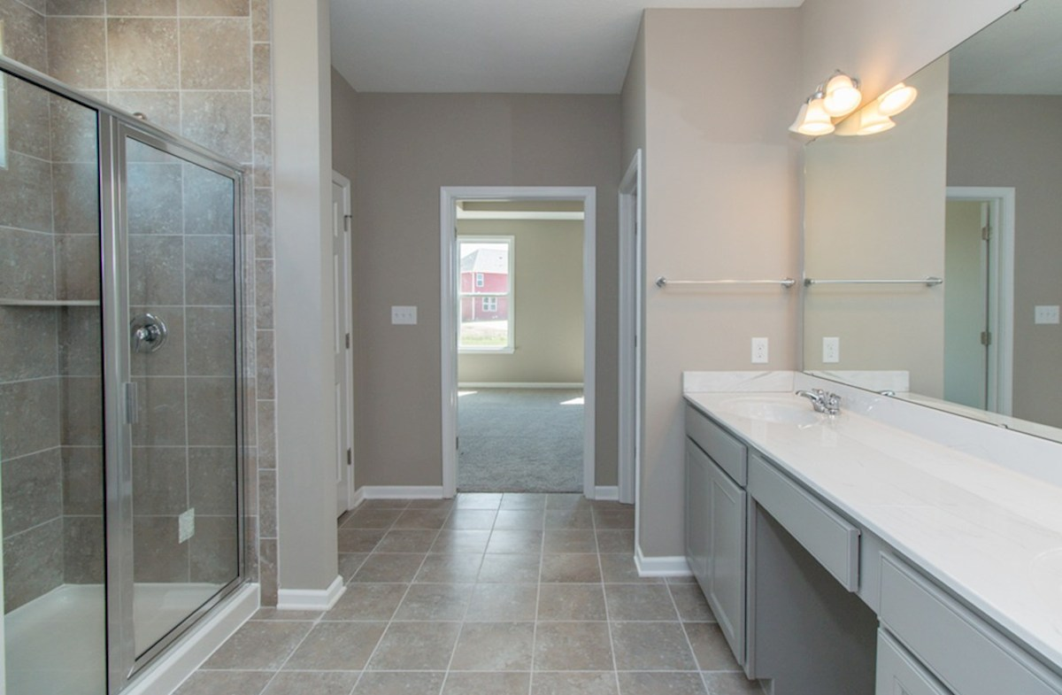 Greenwich quick move-in Master bath with dual sinks