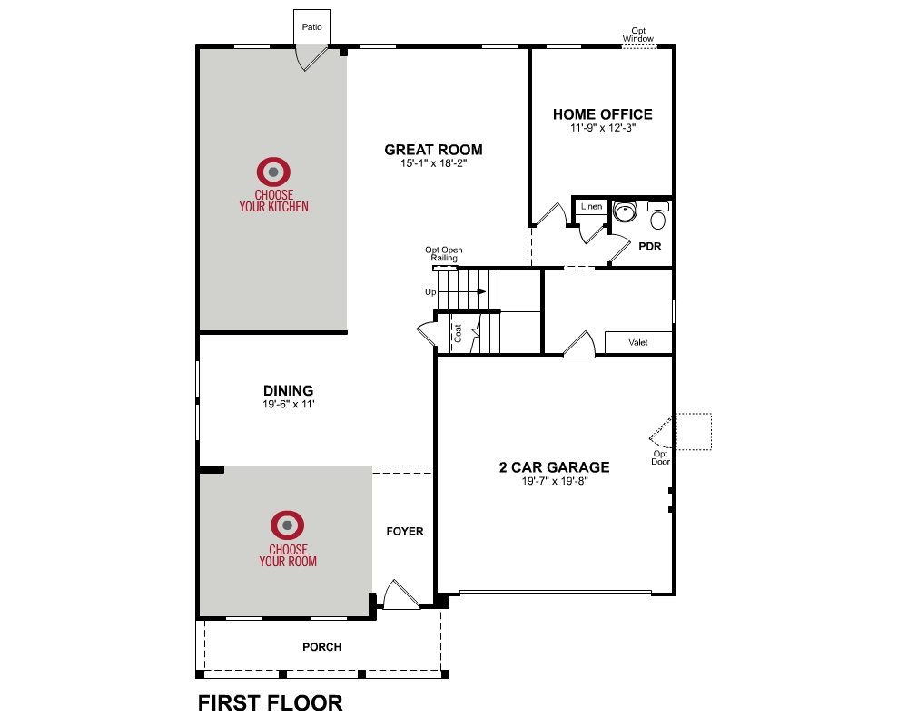 Main floor plan for 1st Floor