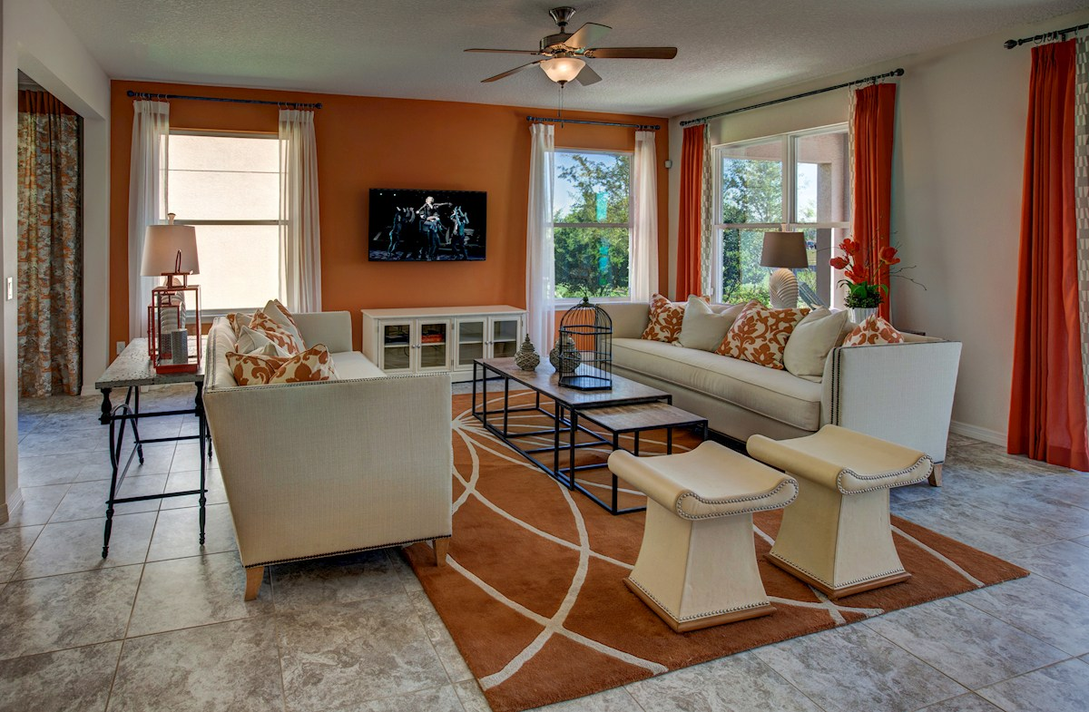 Reserve at Sawgrass Redwood light-filled family room