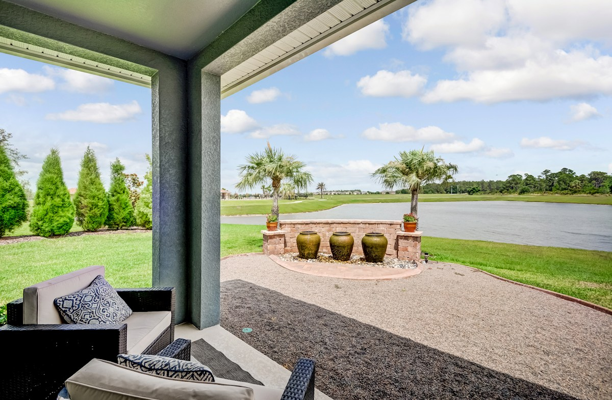Homesites offering serene pond views