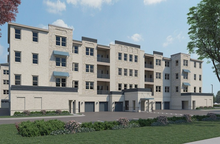 Sherwood condos with beautiful stone exterior