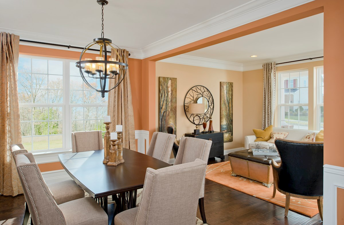 The Preserve at Windlass Run - Single Family Homes Oxford spacious dining room