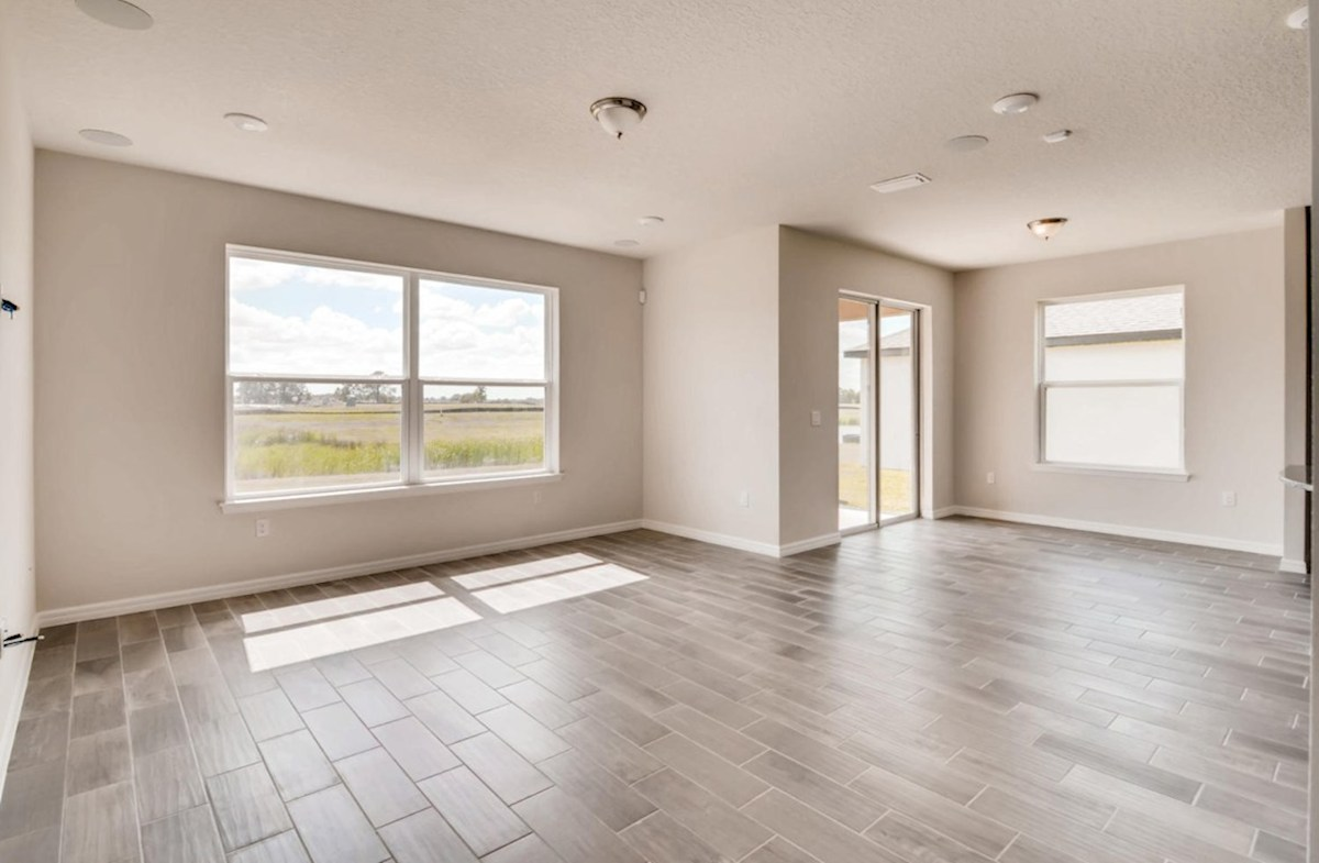 Captiva quick move-in Open great room with large windows for natural light