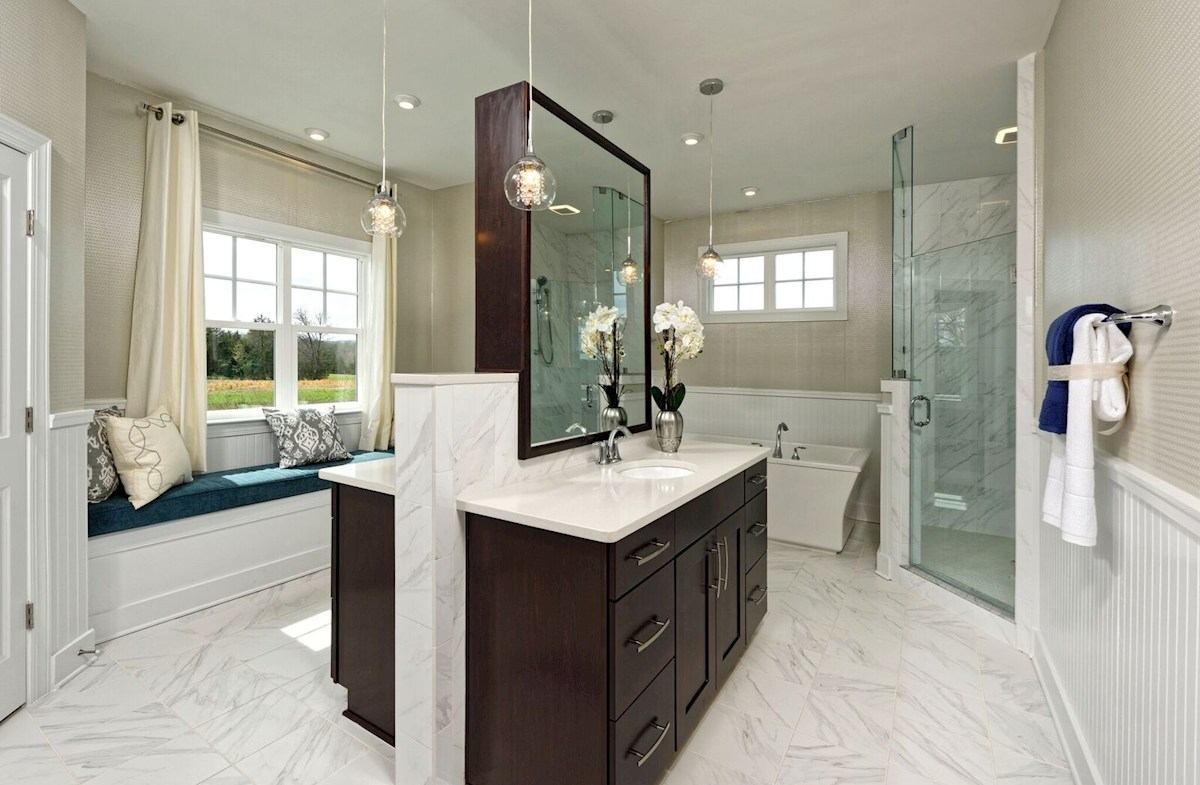 Willowsford Brighton luxury master bathroom