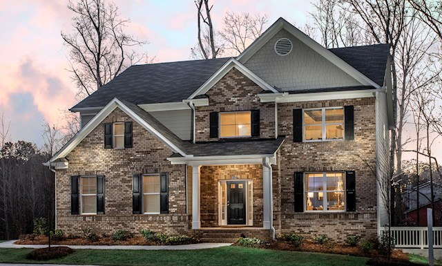 Two-story, brick front home video tour