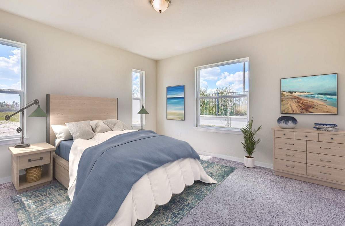 Redington quick move-in Master bedroom with backyard views