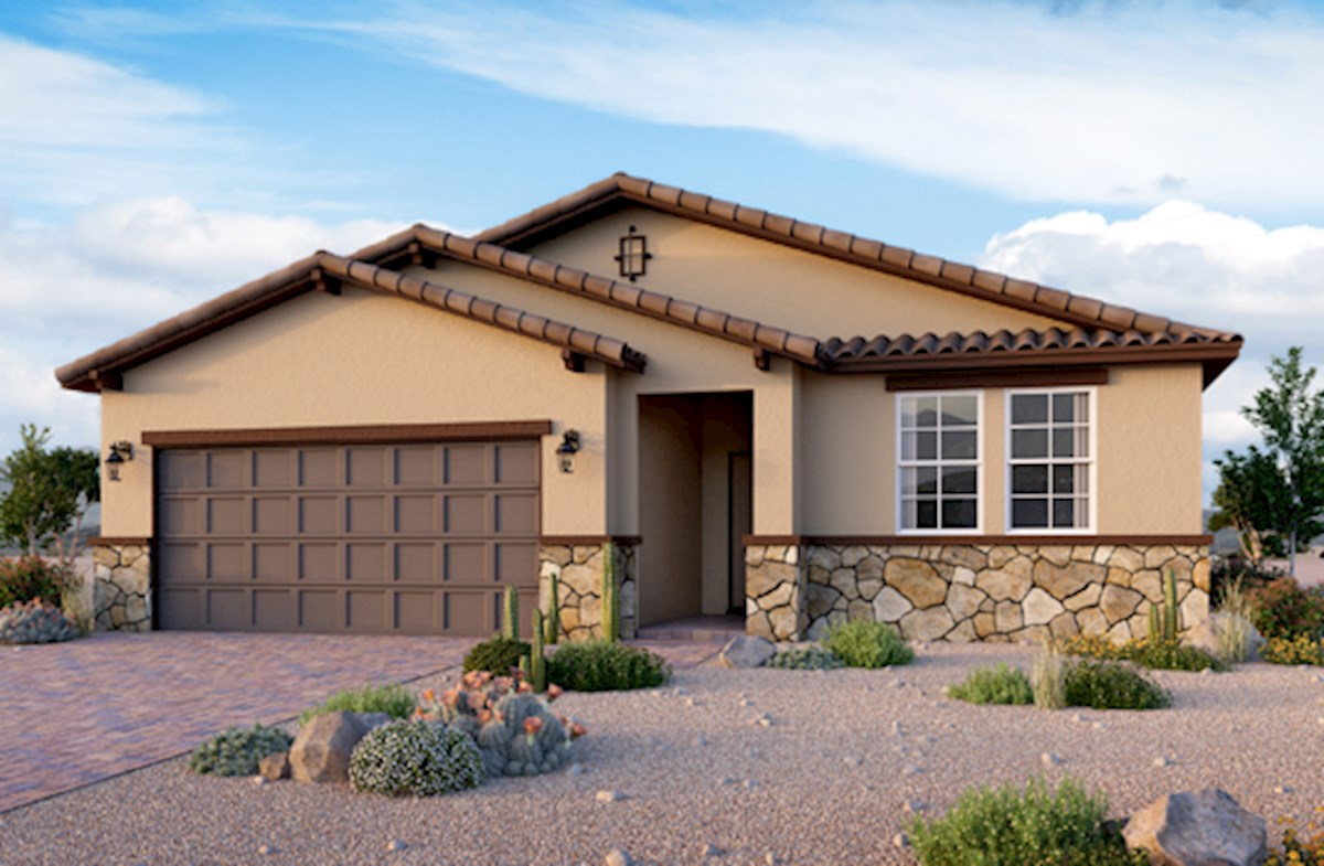 Tuscan exterior on Summit plan