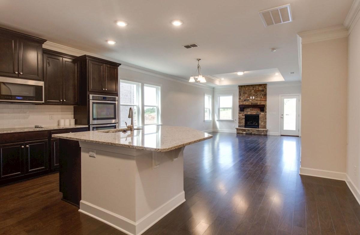 Oxford quick move-in kitchen with island granite countertops