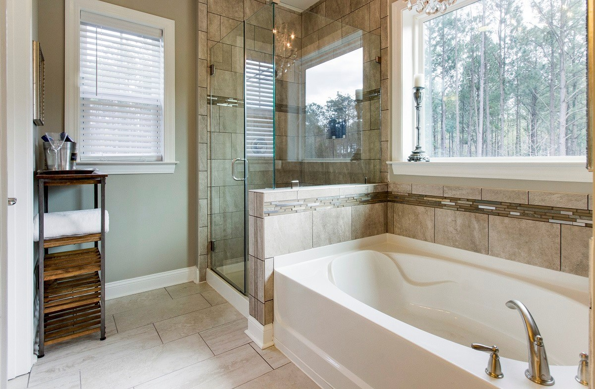 St. Thomas Preserve Archdale luxurious master bathroom
