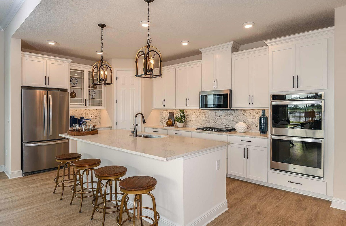 Reserve at Citrus Park Bayview Open kitchen with large center island