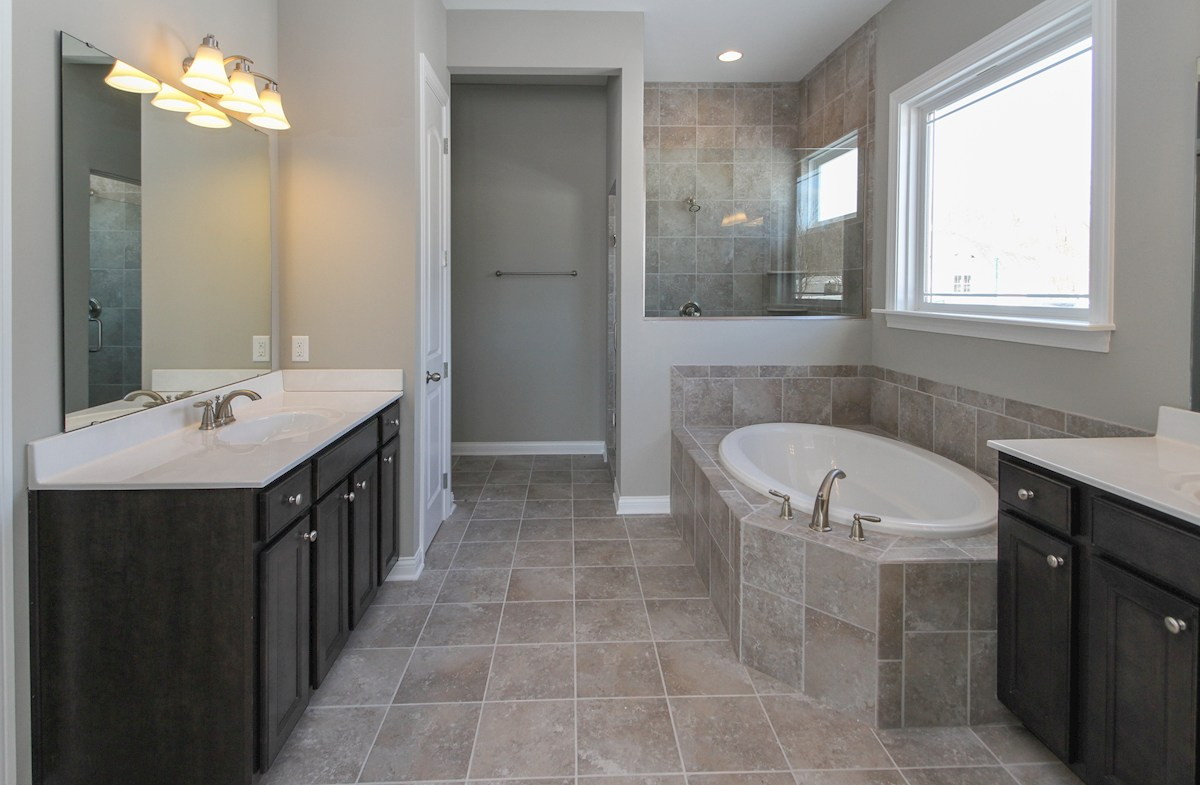 Reserve at Woodside Kingston Escape in this spa inspired owner's bath