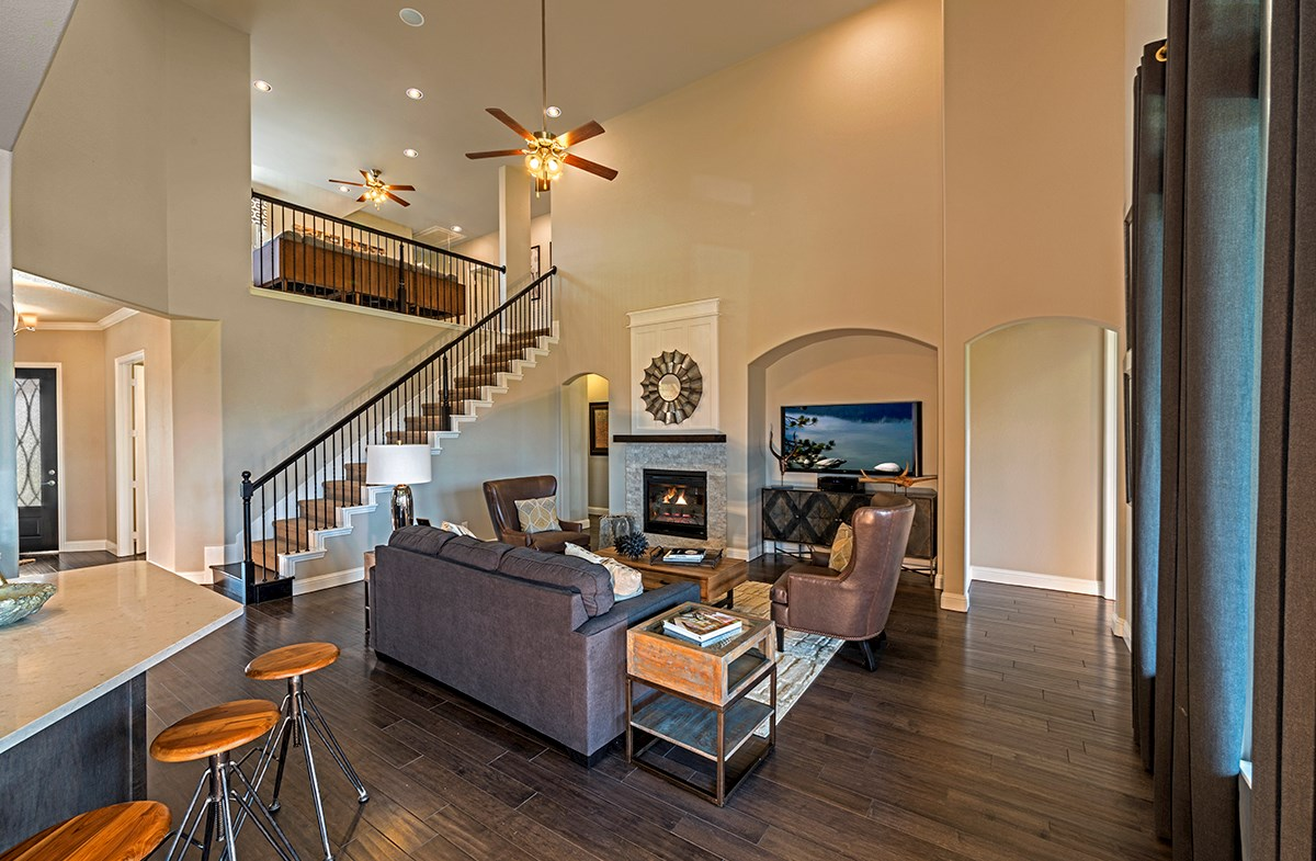 Glen View Kerrville two-story ceilings in great room