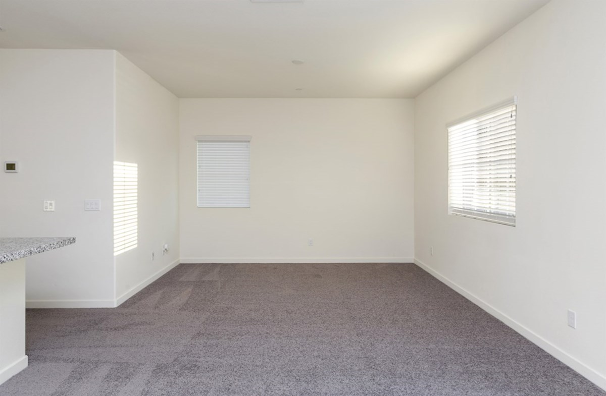 Hudson quick move-in A spacious great room is the perfect space for family bonding