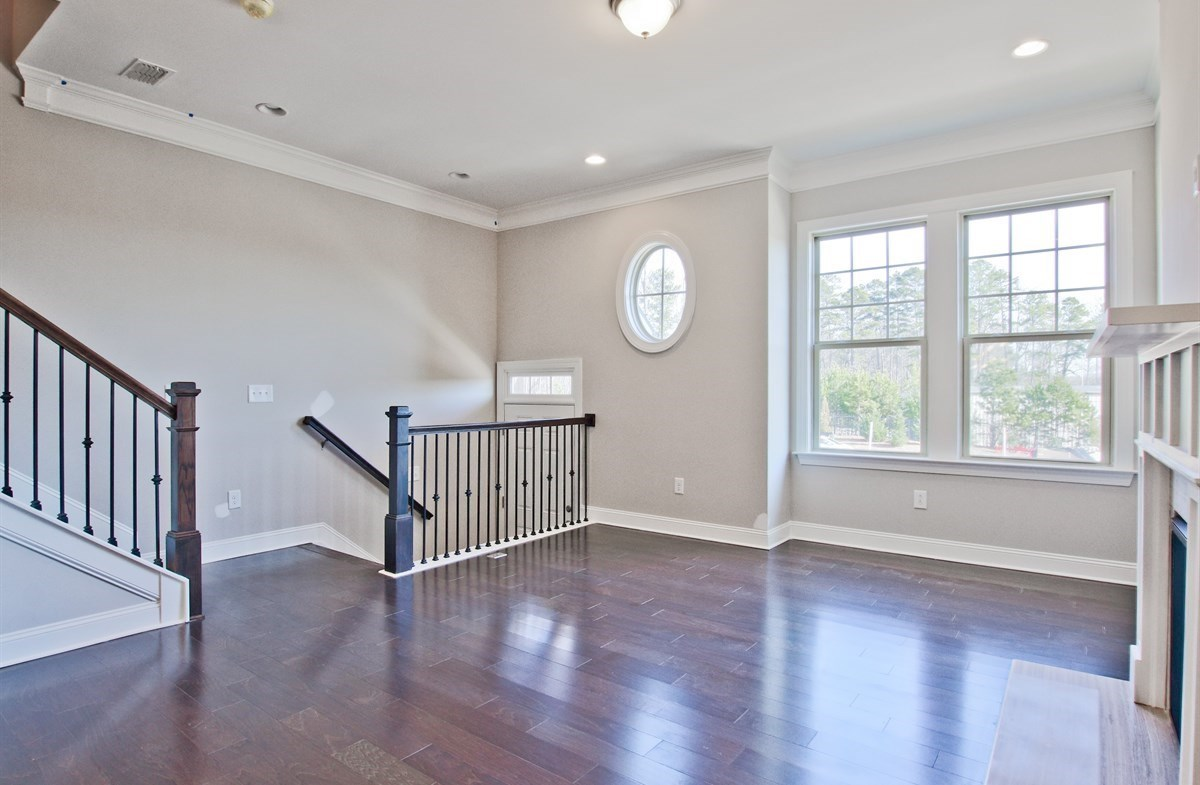 Charleston quick move-in Family Room with hardwood floors