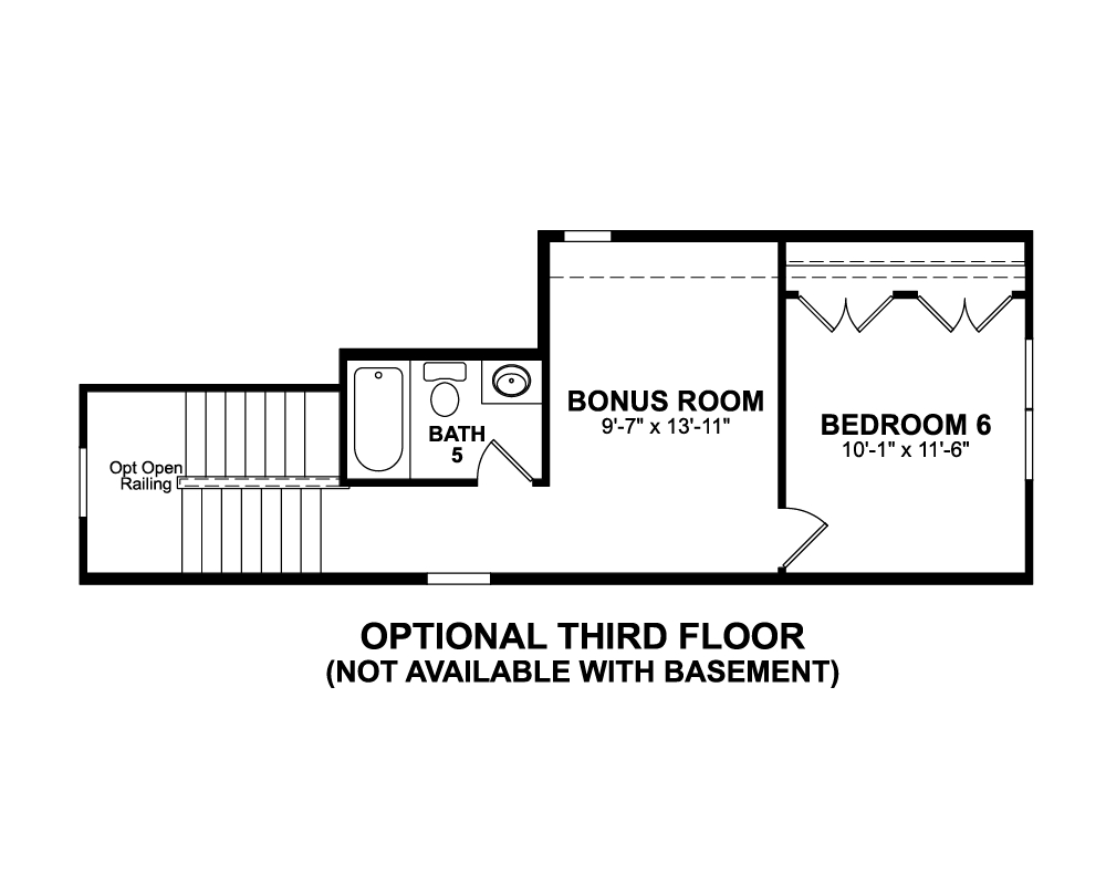 Main floor plan for Third Floor