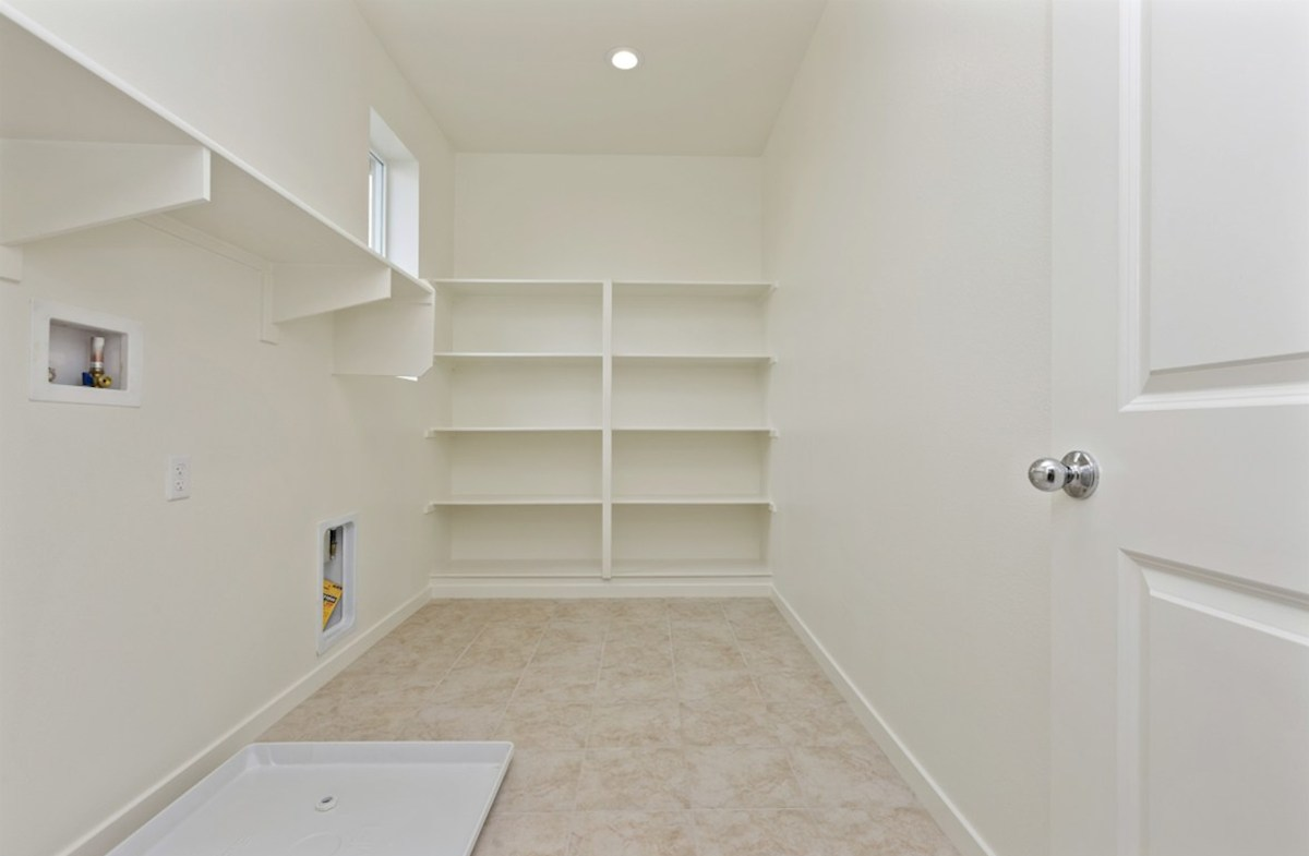 Sonoma quick move-in Oversized laundry room so you can fit an ironing board and optional cabinets or countertops