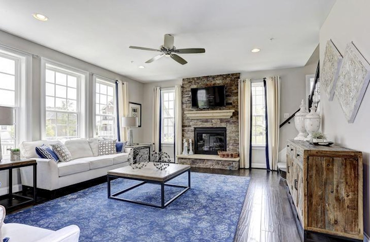 Wincopia Farms Brookview Relax in the family room with cozy fireplace