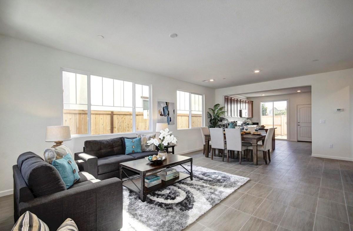 Natomas Field Residence 3 Rancho Cordova, CA new homes Bungalows great room