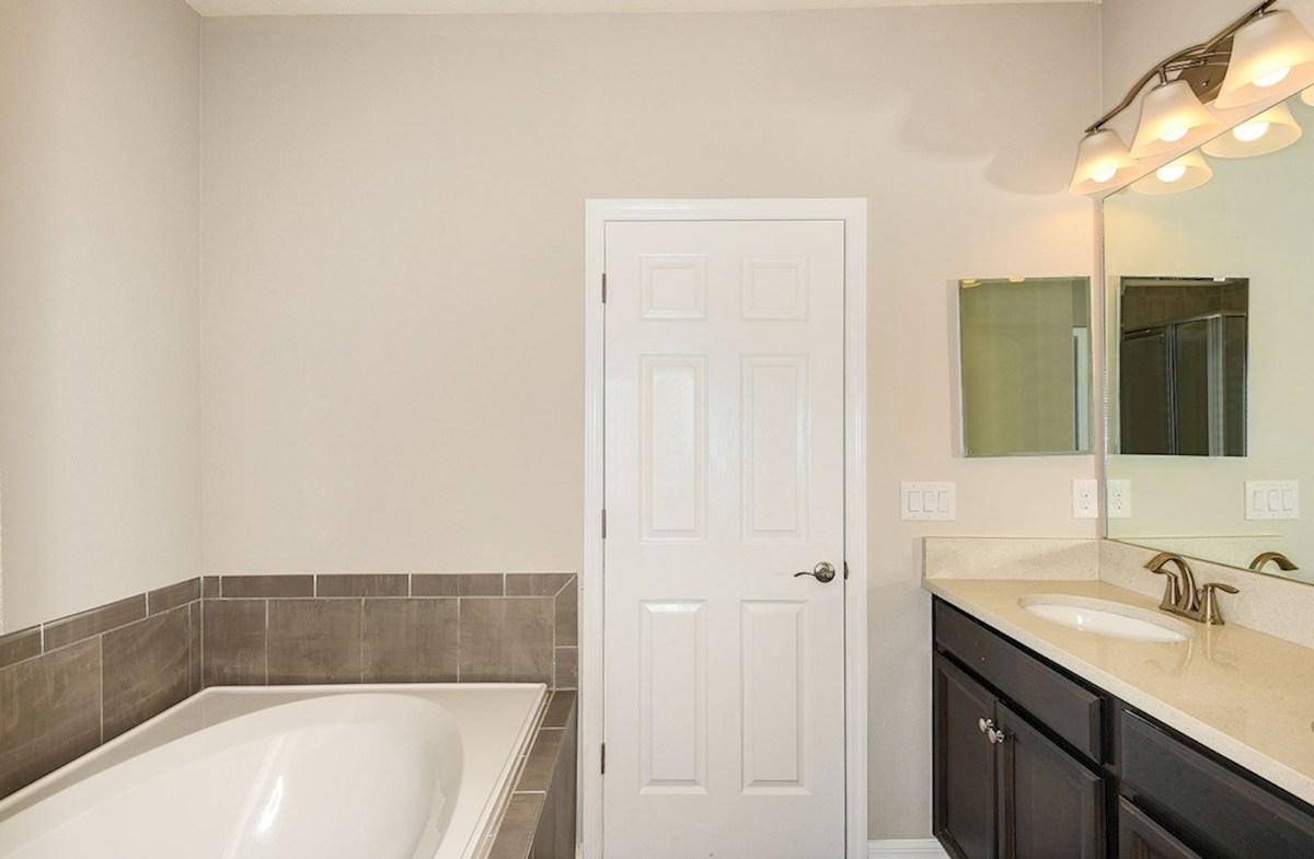 Siesta Key quick move-in Master Bathroom with dual sink vanity