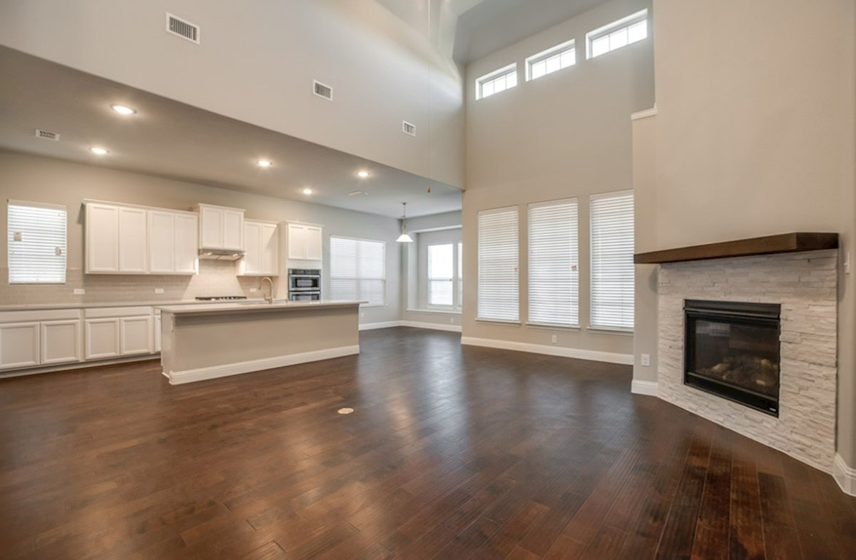 Summerfield quick move-in Summerfield great room with fireplace