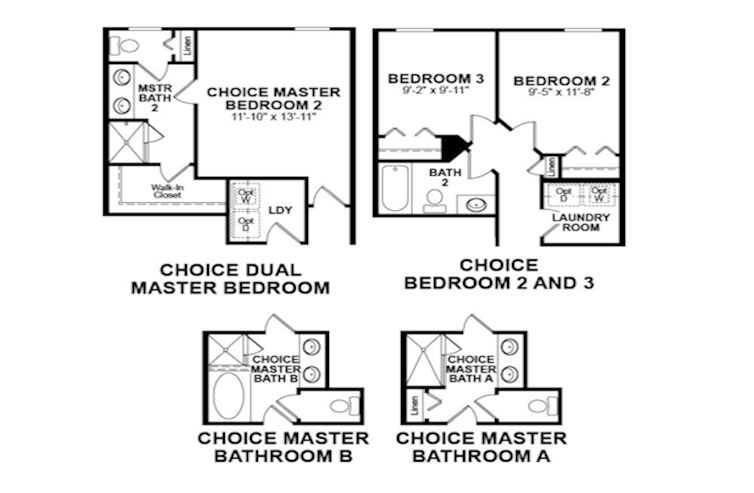 Choice options for Second Floor