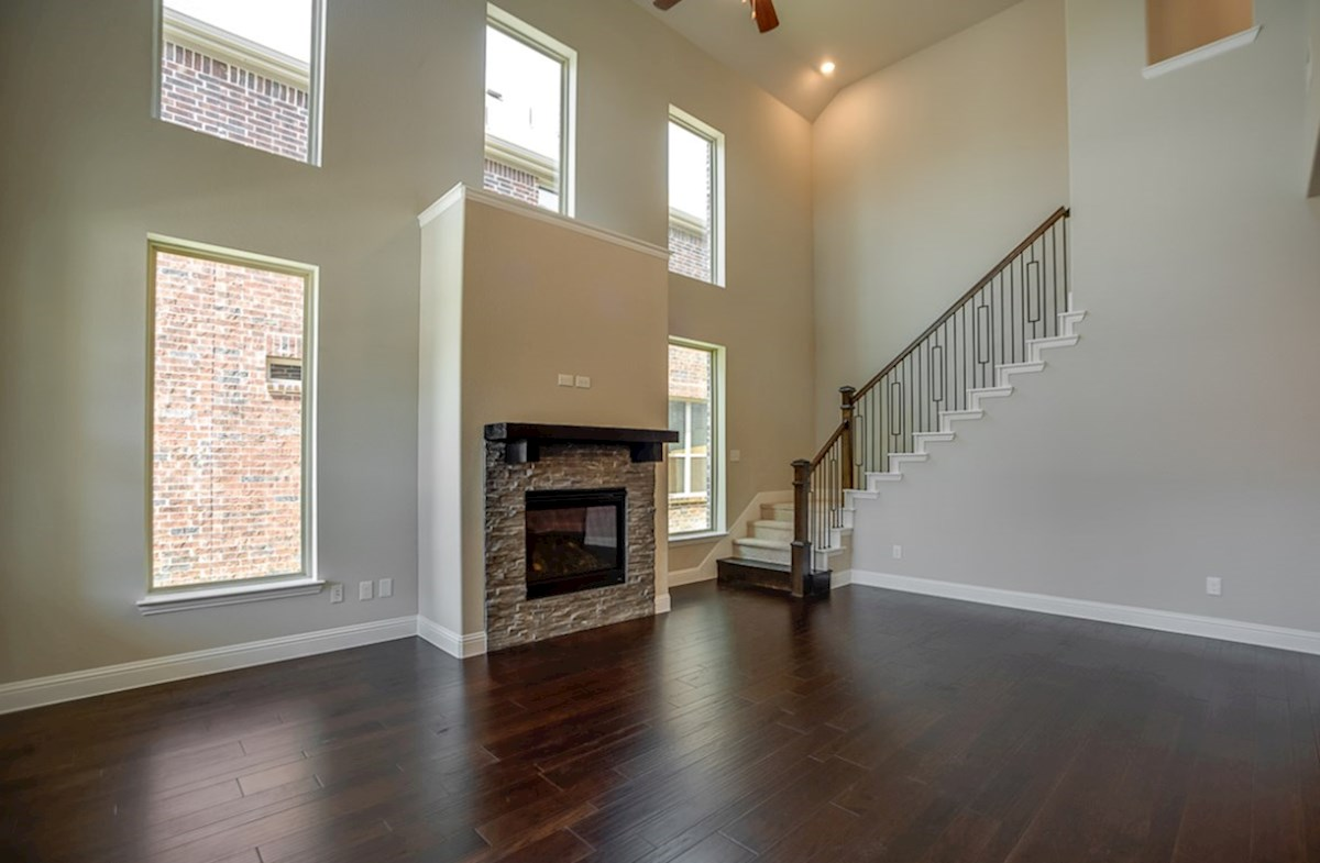 Brazos quick move-in open great room with fireplace