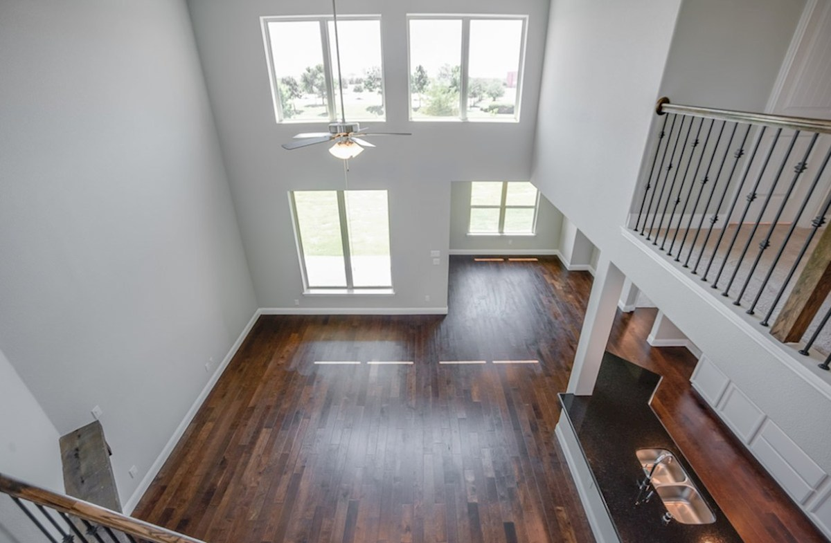 Brookhaven quick move-in great room boasts two-story ceilings