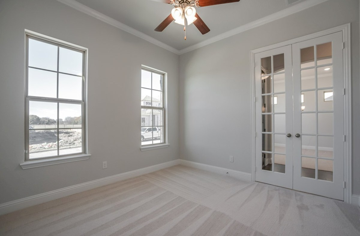 Eastland quick move-in study with carpet with French doors