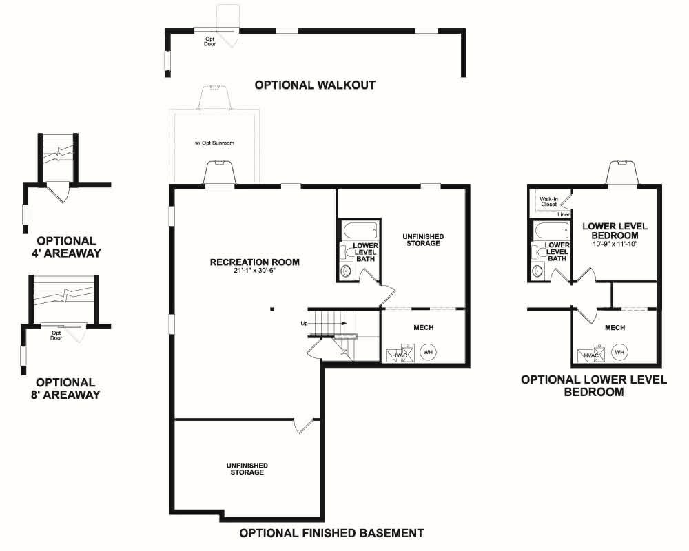Choice options for Basement