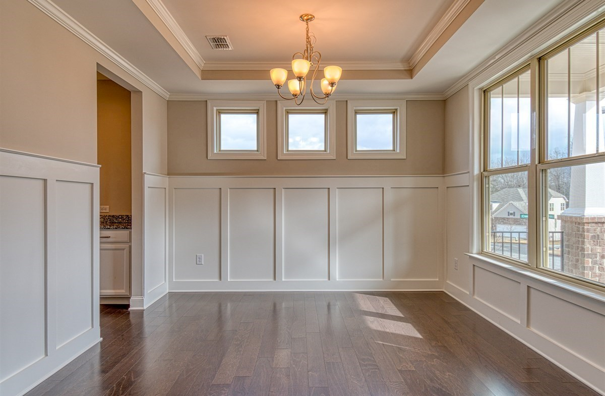 Chandler quick move-in Dining Room with coffered ceiling