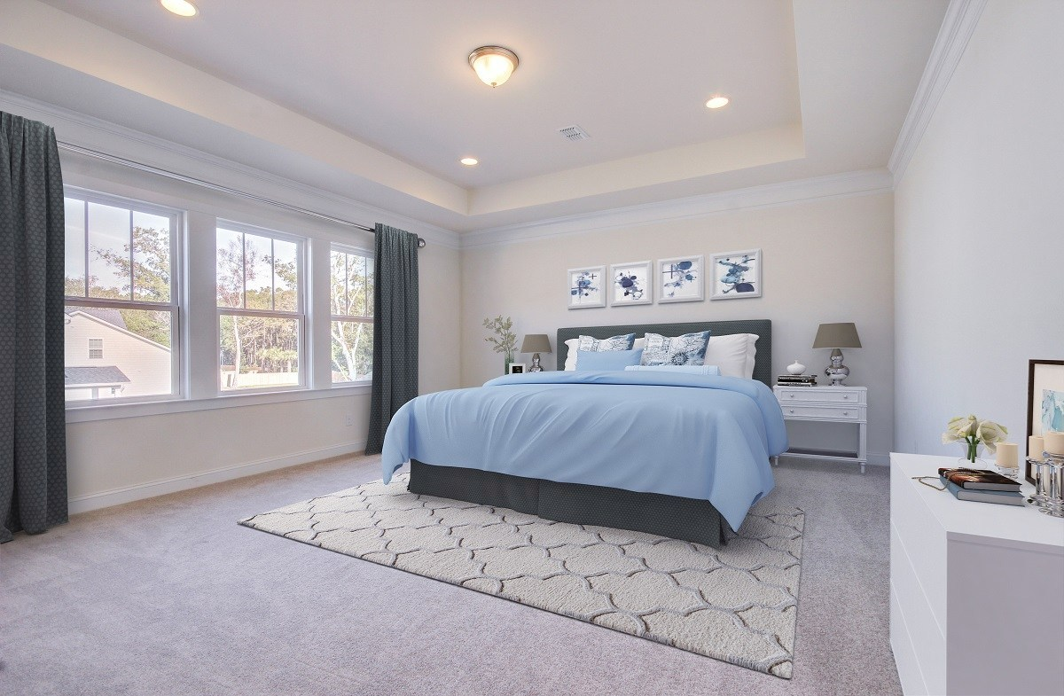 Bentley Park White Oak cozy master bedroom