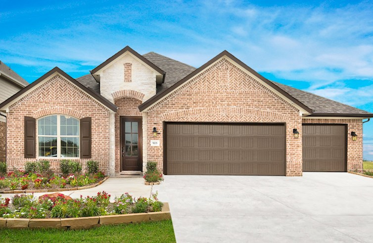 Capri exterior with stone accents and 3-car garage