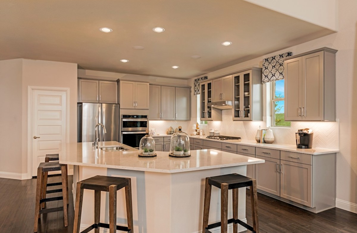 Creeks of Legacy Blackburn open kitchen with large island