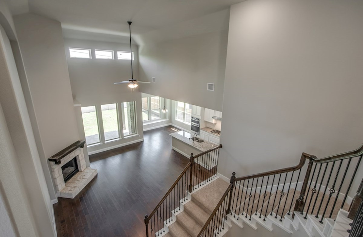 Summerfield quick move-in open great room with soaring ceilings