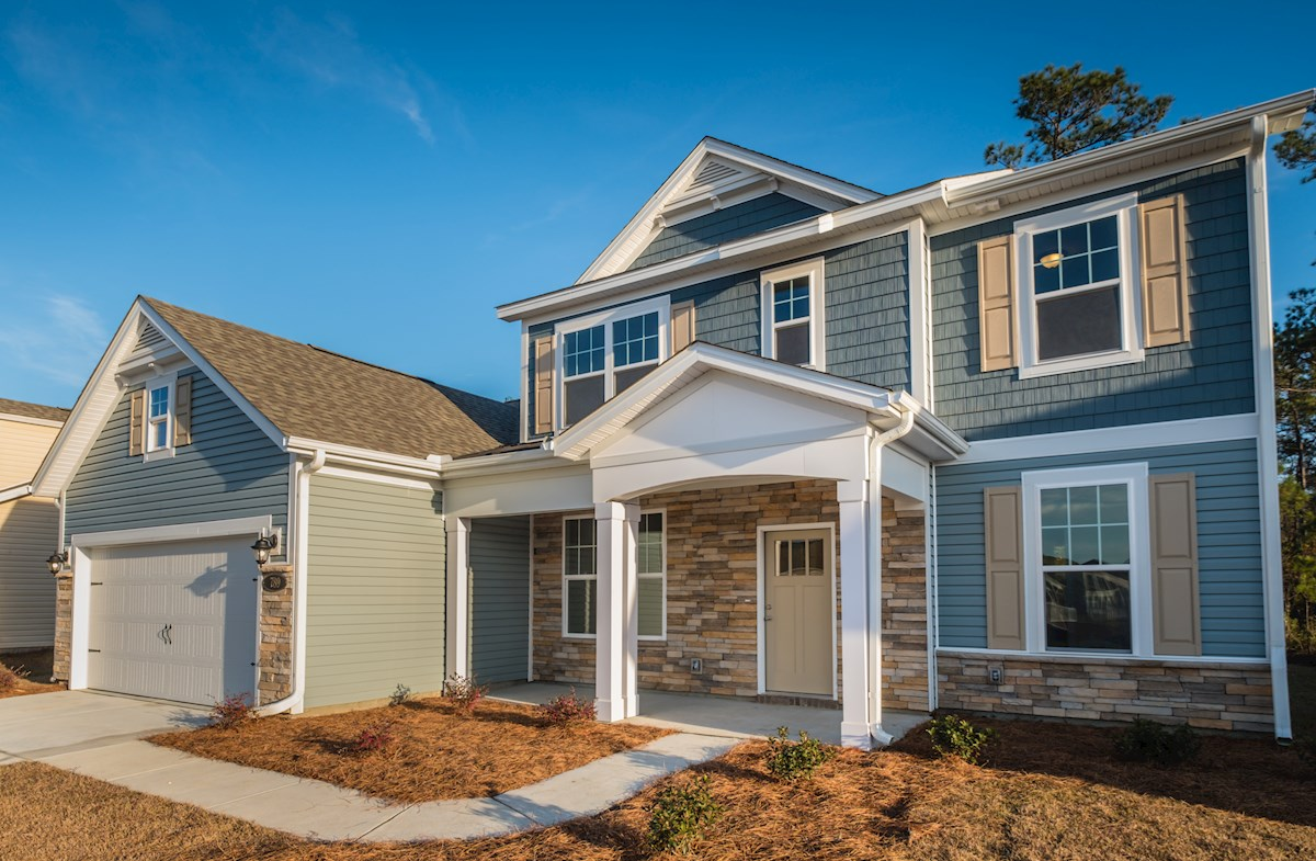 Millbrook ACL quick move-in exterior features stone facade