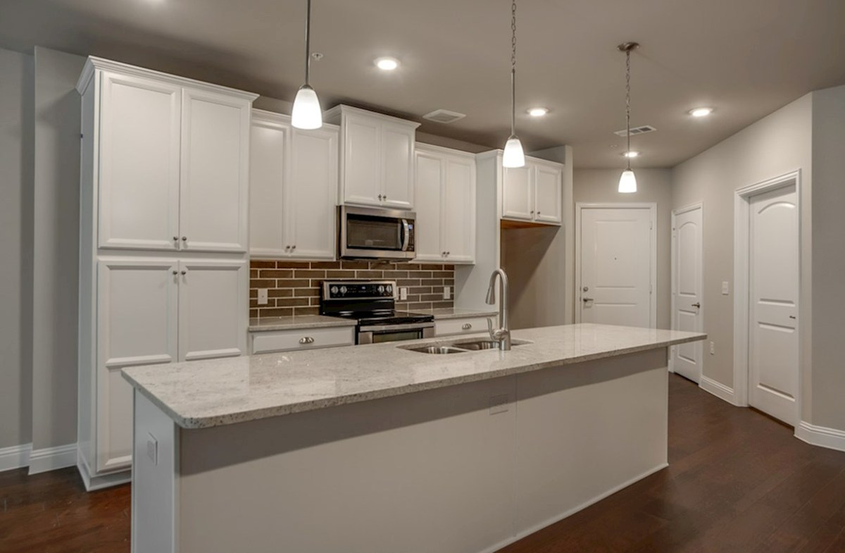 Sherwood quick move-in kitchen with white cabinets