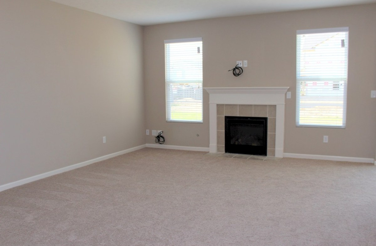 Hartford quick move-in Large great room with gas fireplace