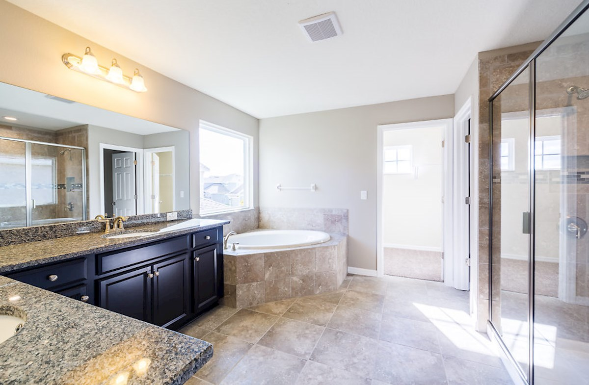 Captiva quick move-in Enjoy a spa-inspired master bathroom