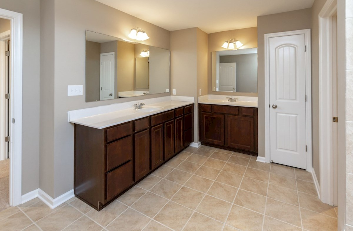 Shelby quick move-in Dual vanities in master bath