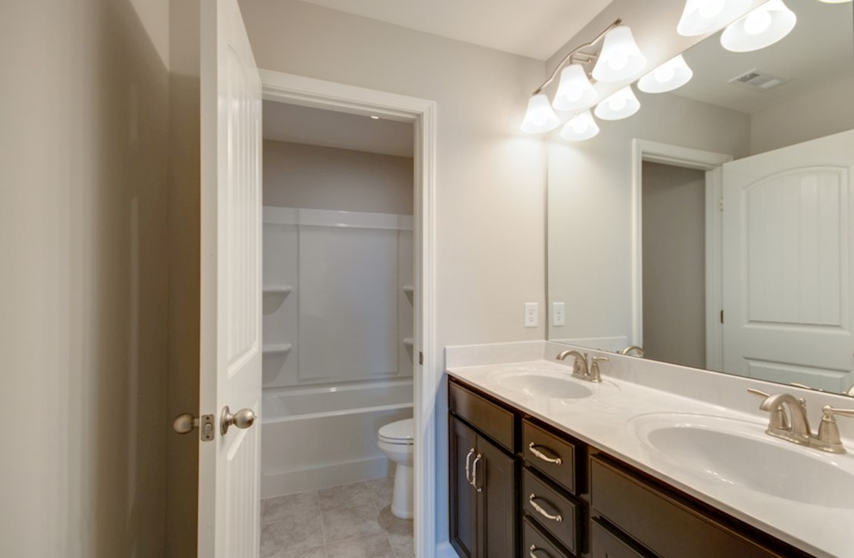 Ashford quick move-in bathroom with double sinks