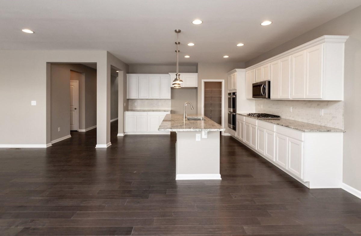 Shelby quick move-in open kitchen with white cabinets